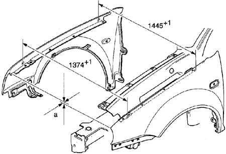 13.8 Снятие и установка переднего крыла Volkswagen Golf IV