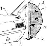 13.21 Снятие и установка вещевого ящика Volkswagen Golf IV