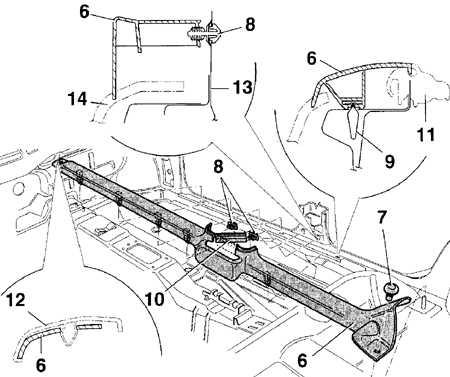 13.23 Снятие и установка накладок порогов Volkswagen Golf IV