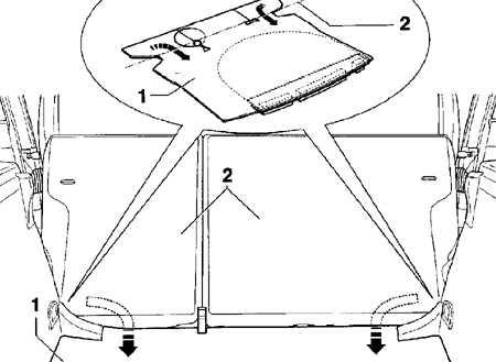 13.26 Снятие и установка покрытия пола багажного отделения