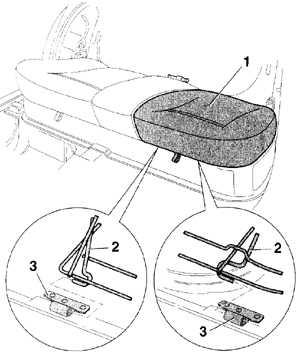 13.30 Снятие подушки заднего многоместного сиденья