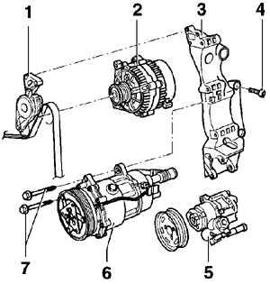 6.10 Кронштейны компрессора кондиционера