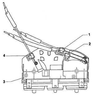 6.4 Снятие и установка тросов управления системой отопления и вентиляции