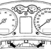 14.13 Снятие и установка комбинации приборов Volkswagen Golf IV