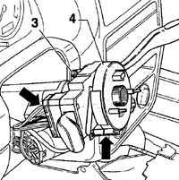 14.14 Снятие и установка переключателей рулевой колонки Volkswagen Golf IV