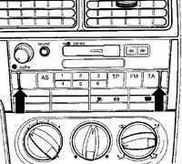 14.16 Снятие и установка радиоприемника Volkswagen Golf IV