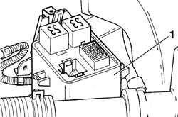 14.22.2 Расположение реле и предохранителей Volkswagen Golf IV