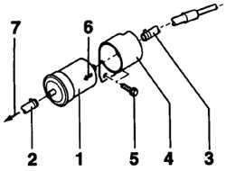 4.1.2 Снятие и установка топливного фильтра  (бензиновые двигатели)