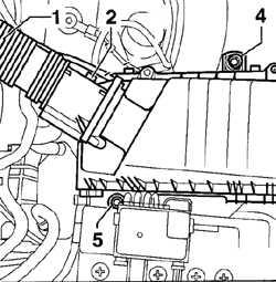 4.1.4 Снятие и установка корпуса воздушного фильтра