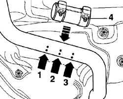 5.5 Снятие и установка одного глушителя