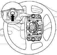 10.1 Снятие и установка подушки безопасности Volkswagen Golf IV