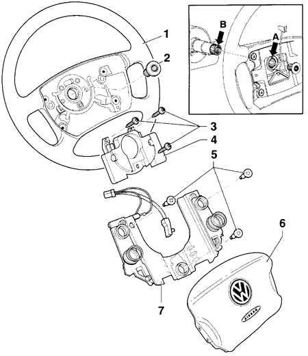 10.2 Снятие и установка рулевого колеса Volkswagen Golf IV