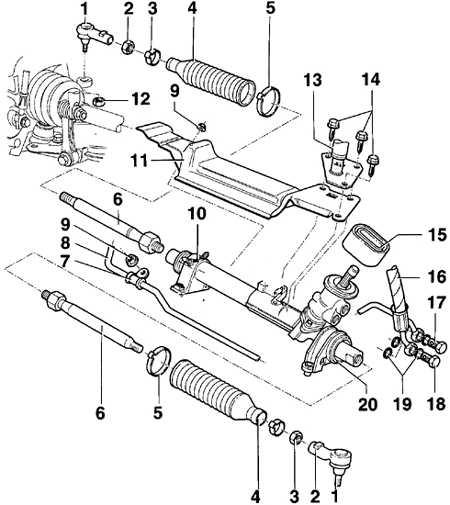 10.3 Снятие и установка наконечника рулевой тяги