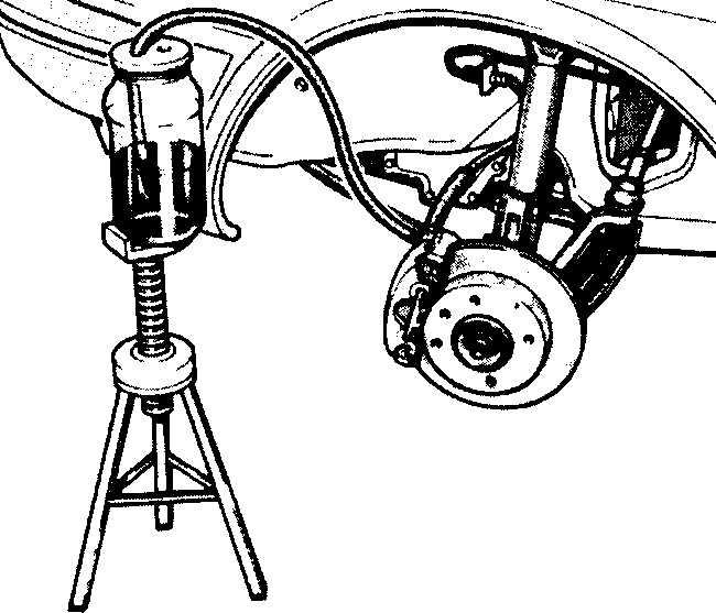 как прокачать передние тормоза фольксваген b5