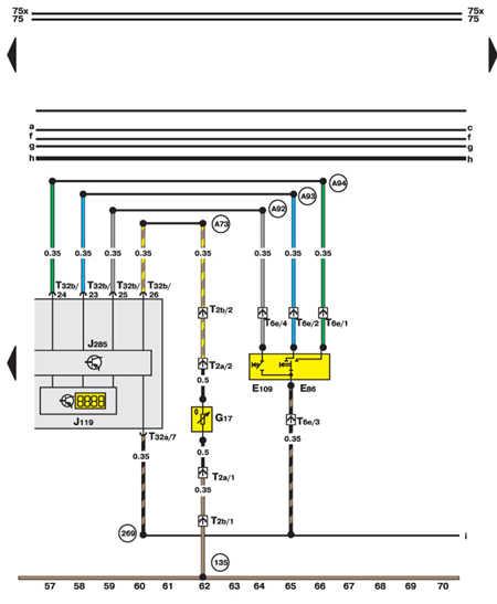 14.35.9 Комбинация приборов, индикатор, датчик температуры воздуха