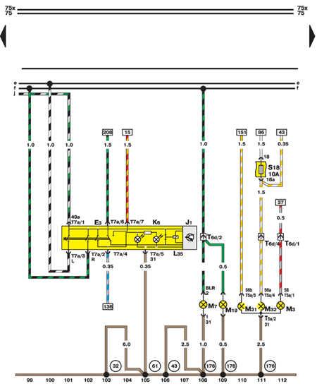 14.35.12 Выключатель световой сигнализации и ламп (правая сторона)