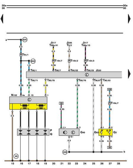 14.35.24 Система управления двигателем Motronic, сигнализация