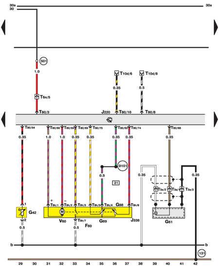 14.35.25 Дроссель, датчики детонации, температуры воздуха (двигатель Motronic)