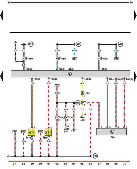 14.35.33 Измеритель потока воздуха, клапан остановки двигателя