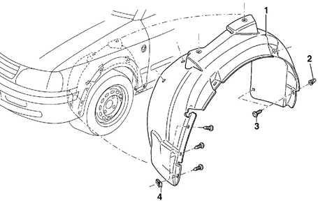 12.12 Облицовка ниши переднего колеса Volkswagen Passat B5