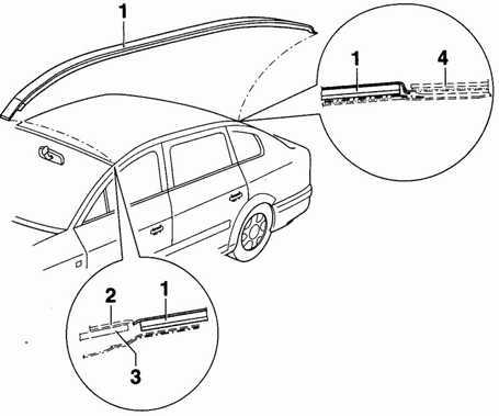 12.61 Ограждение/бордюрная планка крыши Volkswagen Passat B5