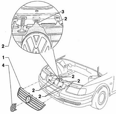 12.15 Решетка радиатора Volkswagen Passat B5