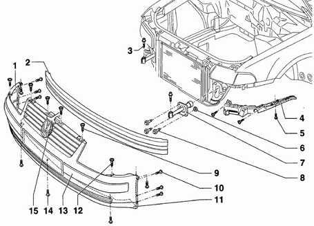 12.7 Передний бампер Volkswagen Passat B5