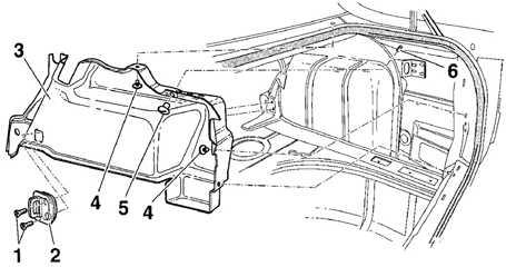 12.22 Боковая отделка багажного отделения моделей Седан