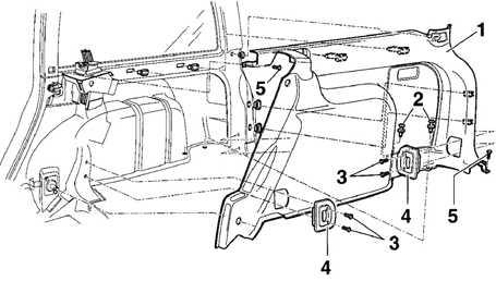 12.23 Боковая отделка багажного отделения моделей Универсал