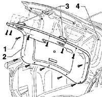 12.25 Обивка крышки багажника Volkswagen Passat B5