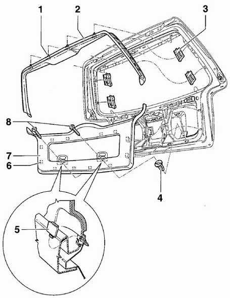 12.26 Обивка двери багажника Volkswagen Passat B5