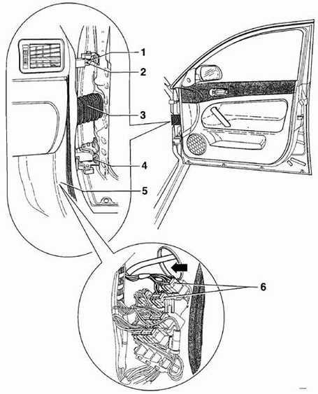 12.32 Передняя дверь Volkswagen Passat B5