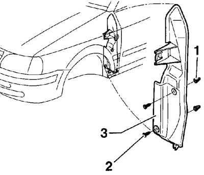 12.11 Переднее крыло Volkswagen Passat B5