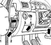12.45 Нижняя отделка панели приборов со стороны водителя Volkswagen Passat B5