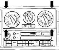 13.7 Блок управления отопителем и кондиционером
