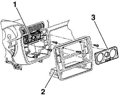 13.3 Панель управления отопителем Volkswagen Passat B5