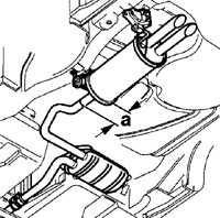 7.5 Замена глушителя Volkswagen Passat B5