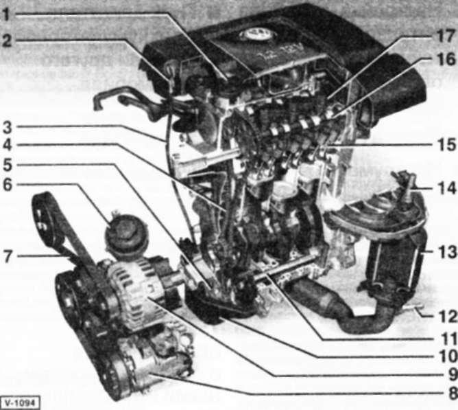 1.6 3-цилиндровый бензиновый двигатель