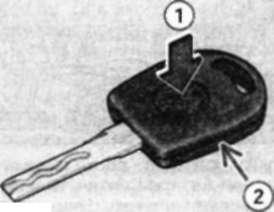 4.11.1 Снятие и установка элементов питания/ лампы накаливания в ключе с подсветкой
