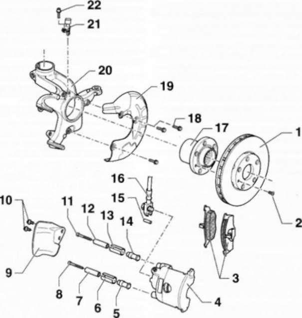 6.2 Передний дисковый тормозной механизм FS-II