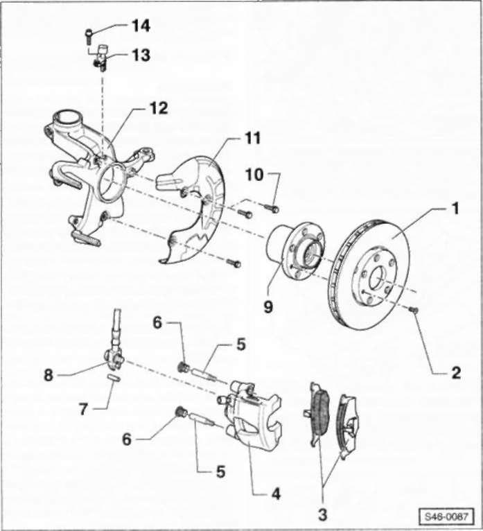 6.3 Передний дисковый тормозной механизм FS-I