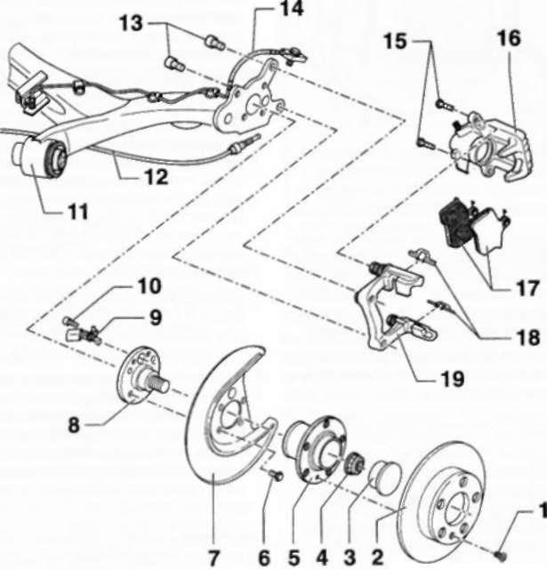 6.8 Задний дисковый тормозной механизм
