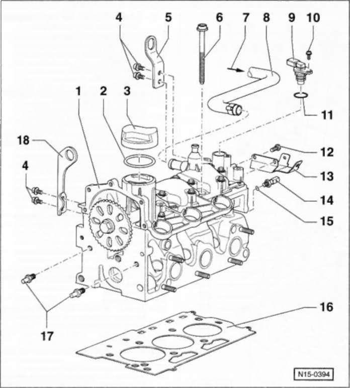 7.3 Головка цилиндров Volkswagen Polo