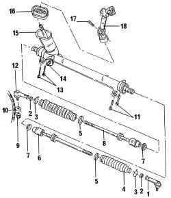 10.4 Поперечные рулевые тяги