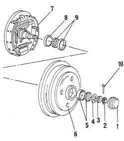 13.4 Подшипники ступиц задних колес