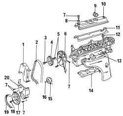 2.3.2 Снятие головки блока цилиндров при установленном двигателе