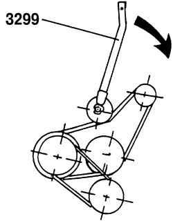 3.8 Регулировка натяжения приводного ремня агрегатов двигателя