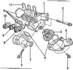 5.6 Термостат двигателя VR6