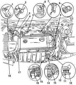 6.0 Система впрыска топлива двигателя VR6