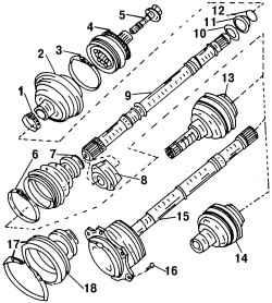 11.0 Валы привода колес
